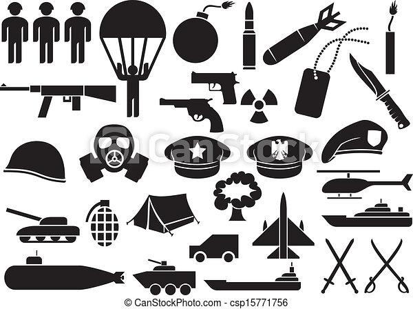military icons  - csp15771756