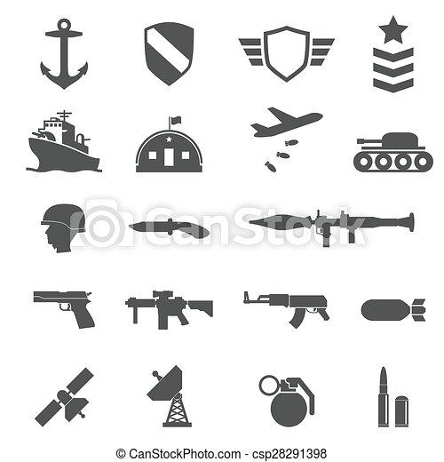 Military icons - csp28291398