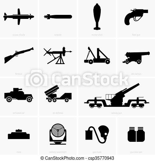 Military icons - csp35770943