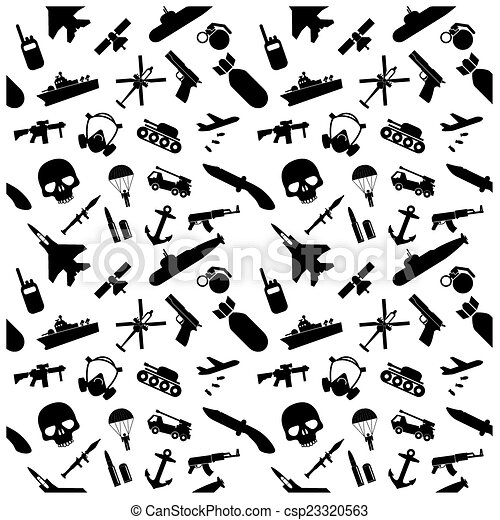 Military icons set - csp23320563