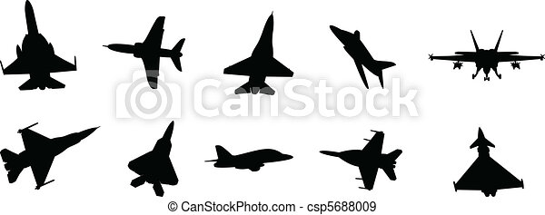 military jets vector