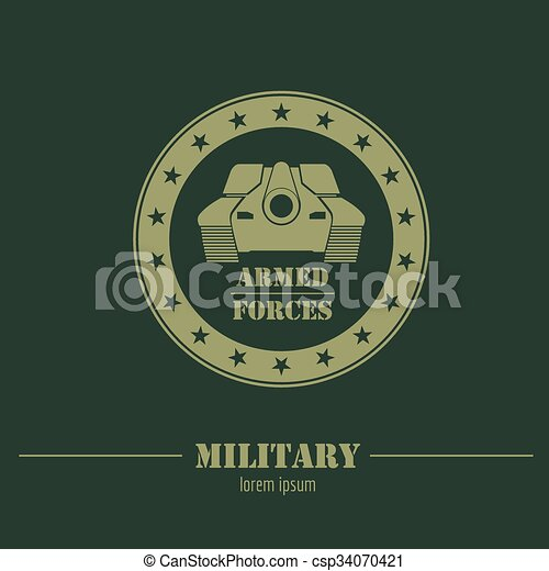 military logo and badges graphic template vector illustration
