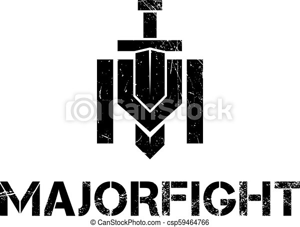 Military m letter  The logo shows a sword piercing the