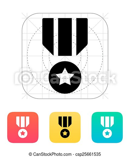 Military medal icon. - csp25661535