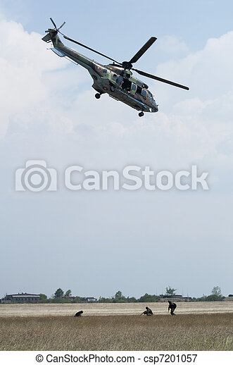 Military operation with helicopters - csp7201057
