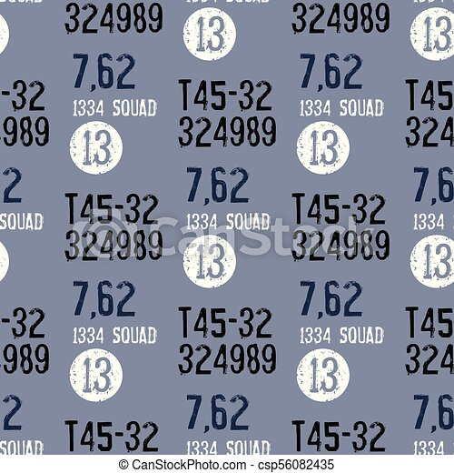 Military packaging seamless pattern - csp56082435