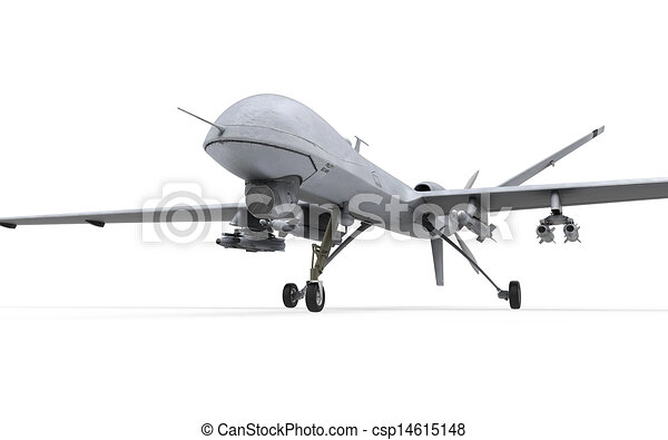 Military Predator Drone Isolated On White Background 3D