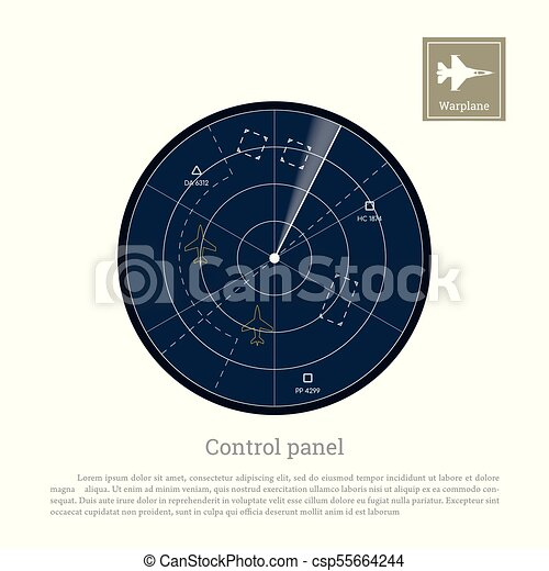 military radar control panel for army aviation screen with map rh canstockphoto com