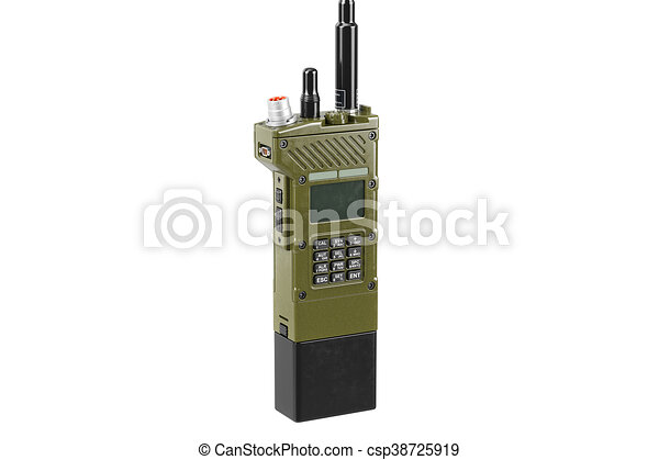 Military radio portable equipment, close view