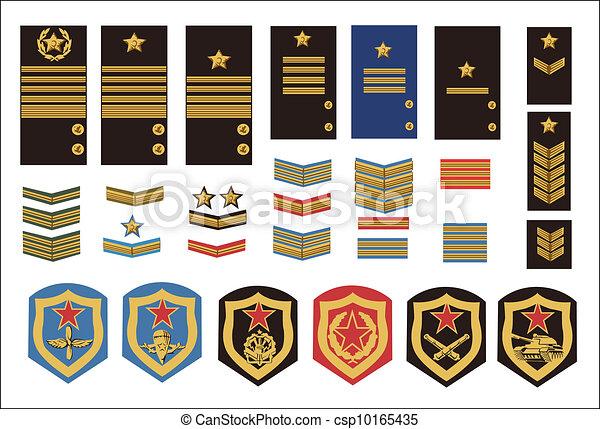 military ranks  - csp10165435