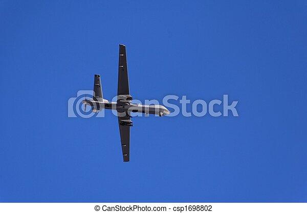 Military reconnaissance aircraft flight demonstration - csp1698802
