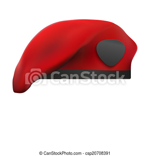 af0bd985281d4 Military Red Beret Army Special Forces. Isolated on white background.  Bitmap copy. -