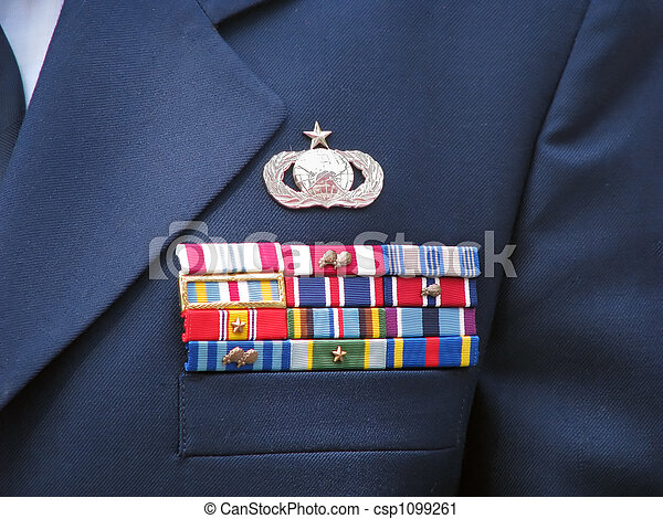 Military Ribbons - csp1099261