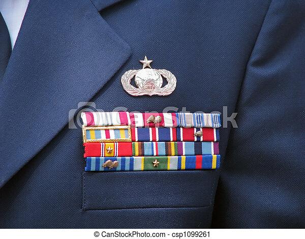 Military Ribbons - csp1099261