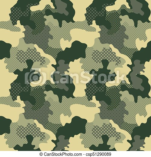 Military Seamless Pattern Camouflage Background Camo Fashion Extraordinary Army Pattern