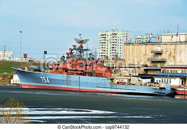 Military ship - csp9744132