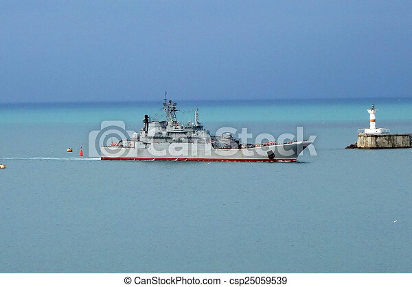 military ship  - csp25059539