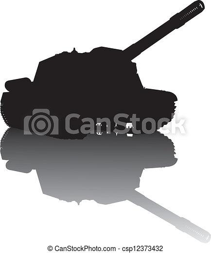 Military silhouette - csp12373432