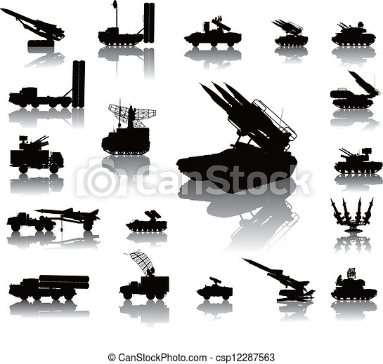 Military silhouettes - csp12287563