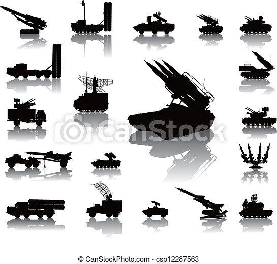 Military silhouettes - csp12287563