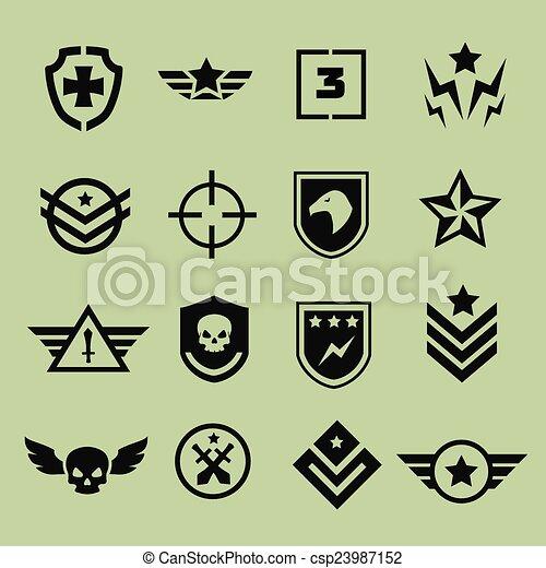 Military symbol icons  - csp23987152