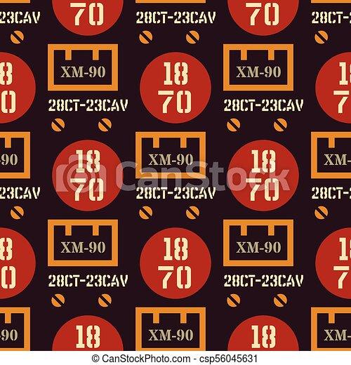 Military symbols seamless pattern - csp56045631