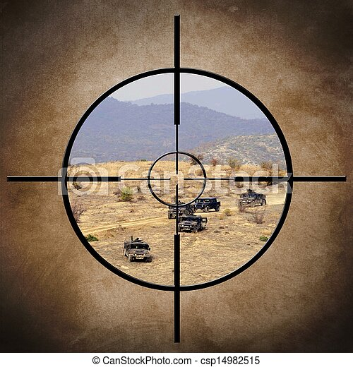 Military target on vehicles - csp14982515