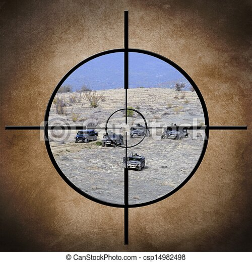 Military target on vehicles - csp14982498