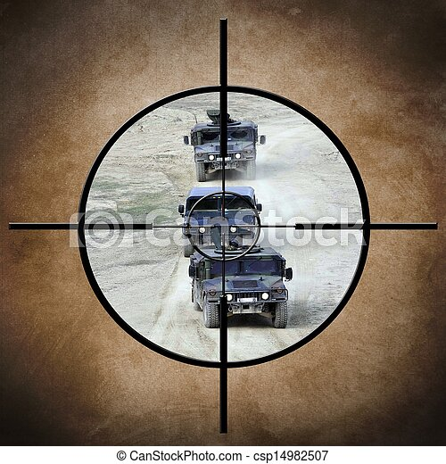 Military target on vehicles - csp14982507