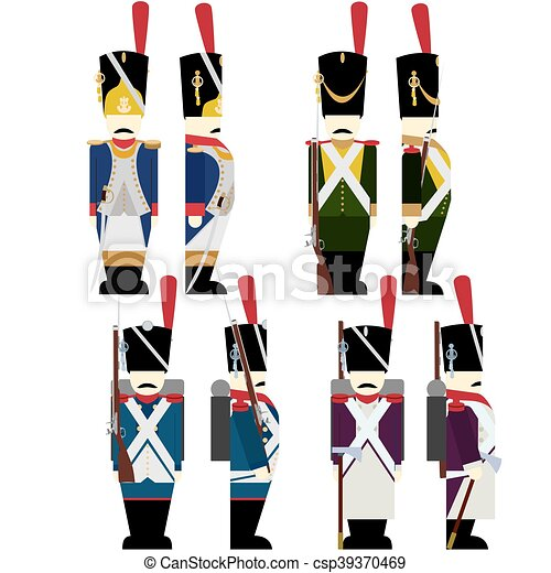 military uniforms army france french army soldiers in clip art rh canstockphoto com military clip art graphics military clip art soldiers