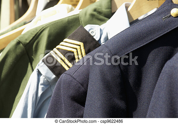 military uniforms - csp9622486