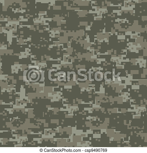 Military woods camouflage seamless pattern. - csp9490769