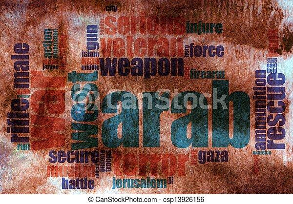 Military word cloud - csp13926156