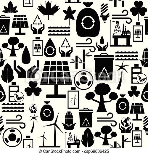 miljöbetingad, icon., seamless, fond mönstra - csp69806425