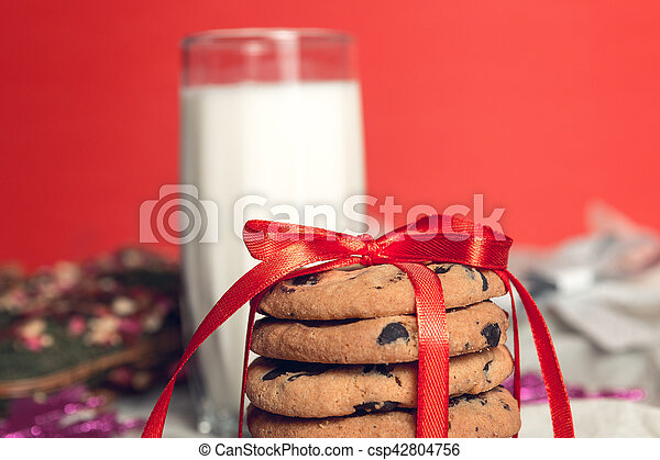 Milk And Cookies For Santa Claus Christmas New Year