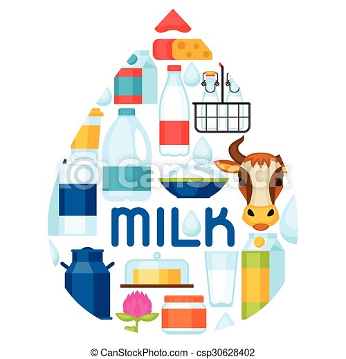 milk background with dairy products and objects vector clipart rh canstockphoto com dairy clipart free diary clipart