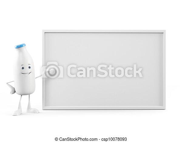 Milk bottle character - csp10078093