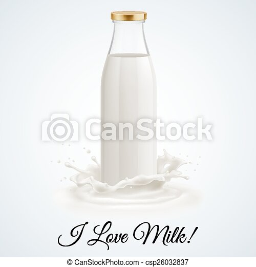 Milk bottle - csp26032837