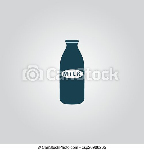 milk bottle icon - csp28988265