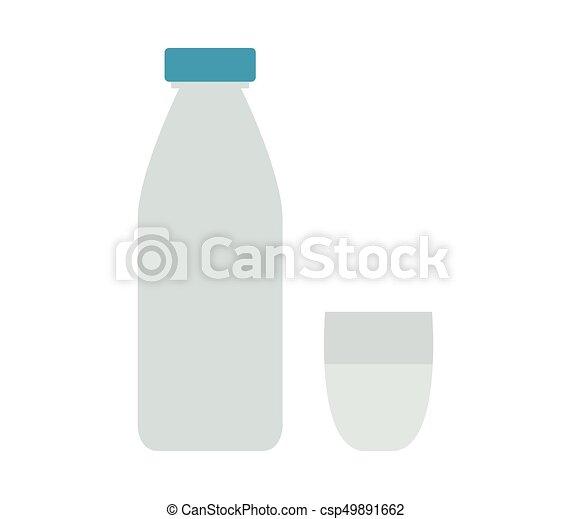 Milk bottle icon - csp49891662