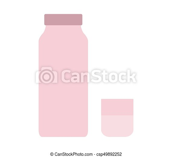 Milk bottle icon - csp49892252