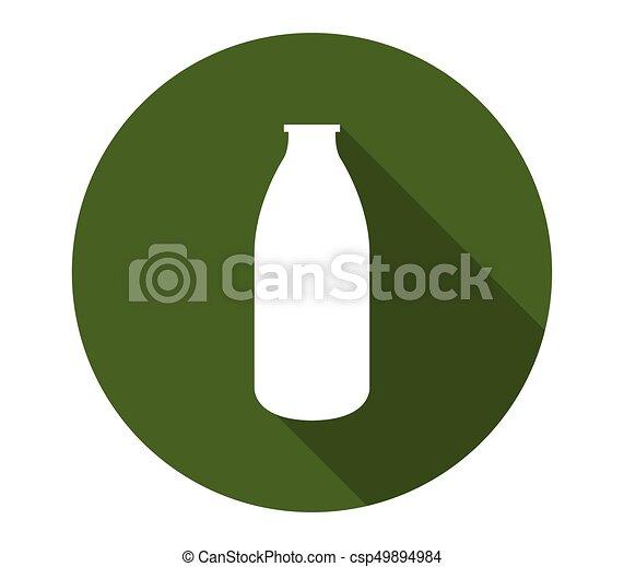 Milk bottle icon - csp49894984