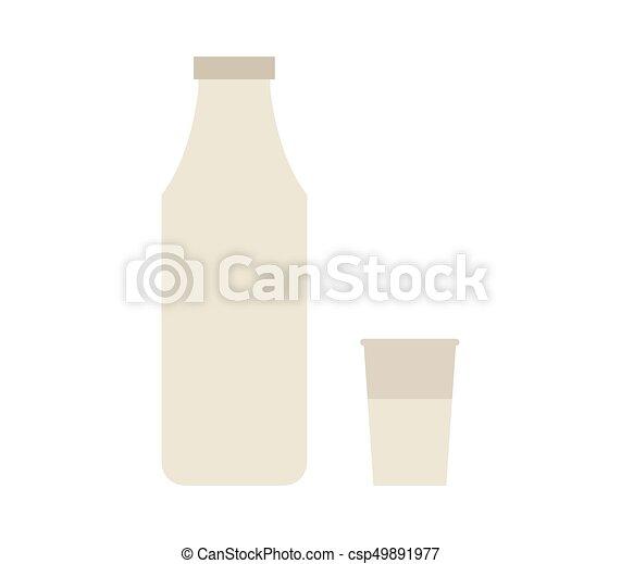 Milk bottle icon - csp49891977