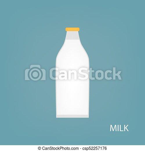 milk bottle icon - csp52257176