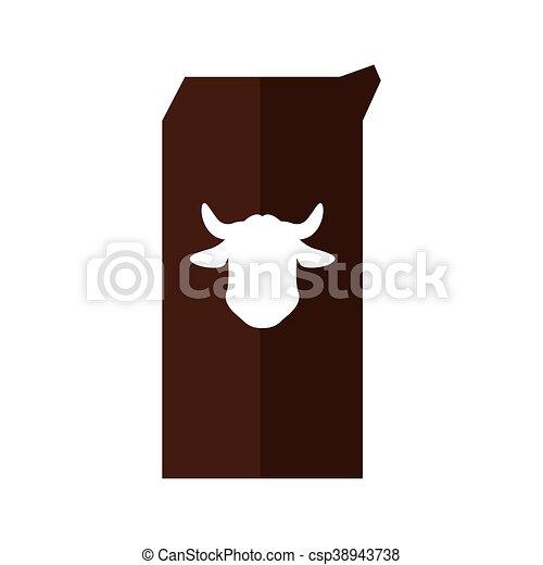 Milk box icon. Bakery supply design. Vector graphic - csp38943738