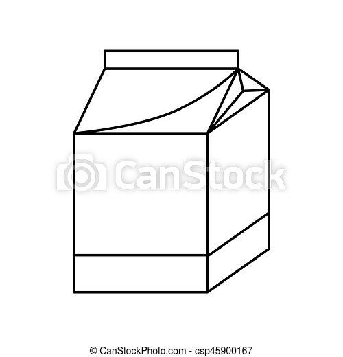 milk box icon - csp45900167