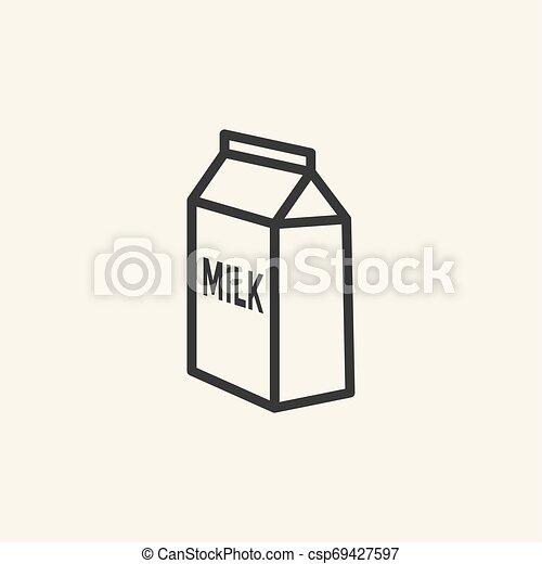 Milk box icon. - csp69427597