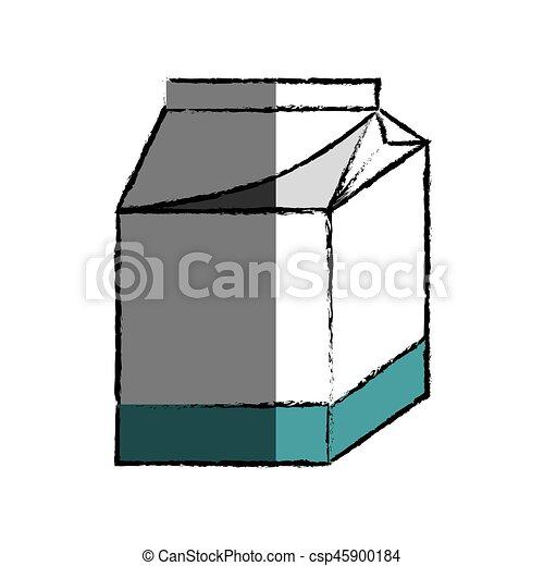 milk box icon - csp45900184