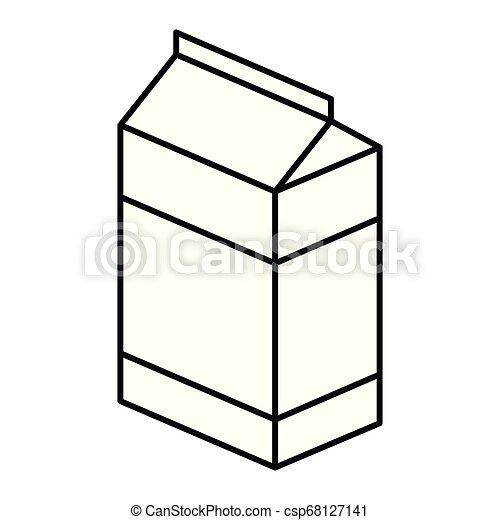 milk box icon - csp68127141