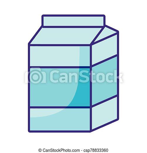 milk box icon, flat style - csp78833360